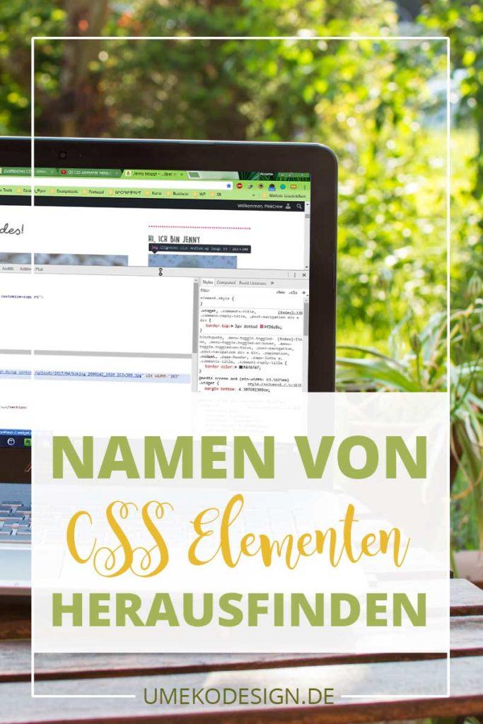 Namen von CSS Elementen herausfinden
