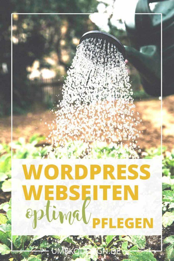 Wordpress Webseiten pflegen