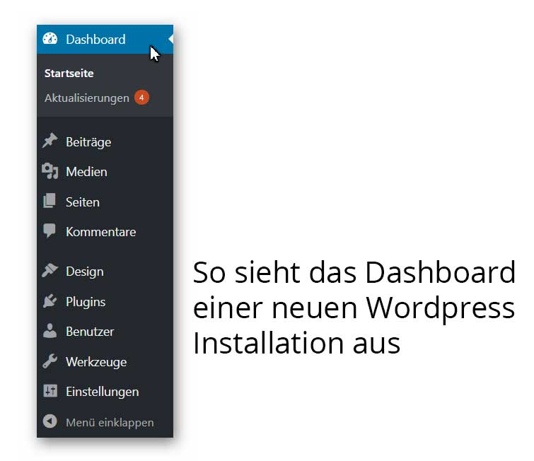 WP Dashboard neu